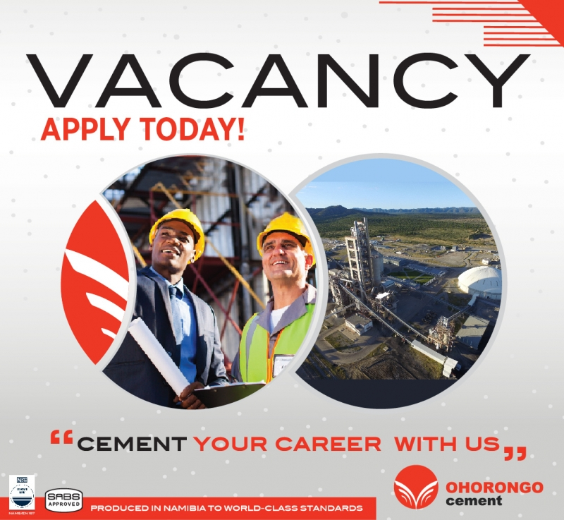 Vacancies - Ohorongo Cement (PTY) Ltd