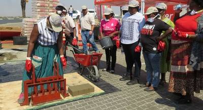 A significant number of women participates in brickmaking training Khomas region