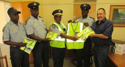 Donation of reflective jackets to the Otavi Police