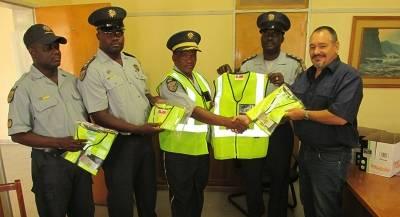 Donation of reflective jackets to the Otavi Police