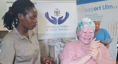 Ohorongo helps prevent sun-related Cancer in persons with Albinism