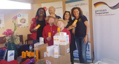 Ohorongo Cement donates sunscreen lotion to albinism children in Namibia