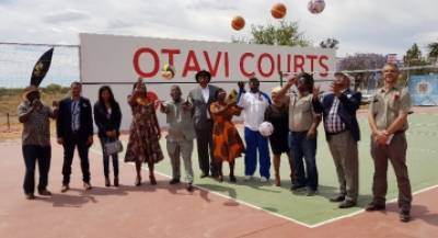 Funders for the renovations of the Otavi Courts, together with the local authority councillors