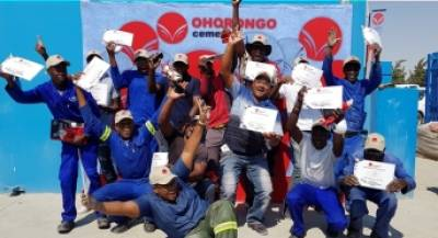 Strong partnerships builds strong communities: Brickmaking training at Kambwa trading oshakati
