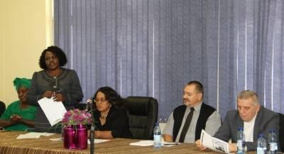 Hilka Leevi-Timia Ngwira-Hon.Deputy Minister Petrina Haingura-Mr Rudolf Coetzee-Dr Yuri Yangazov