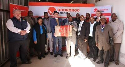 Hon. Kameeta, Ohorongo, Buildit & Omaheke local- regional leadership witnessed this milestone.
