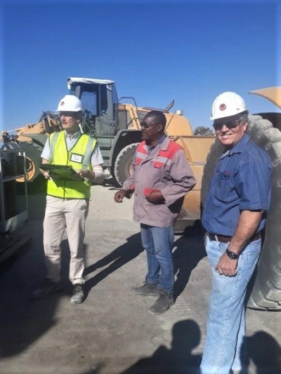 Independent International technical auditors at Plant Sargberg, Otavi