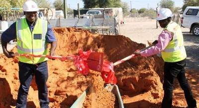 Markus Damaseb and Hon. Otto Iipinge did the honours at the Groundbreaking event