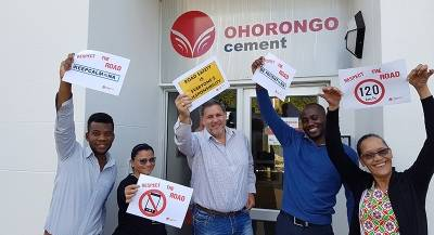 Ohorongo employees will encourage Namibians to drive safely and adhere to road safety regulations.