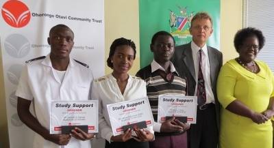 Ohorongo nurses students by awarding nursing bursary