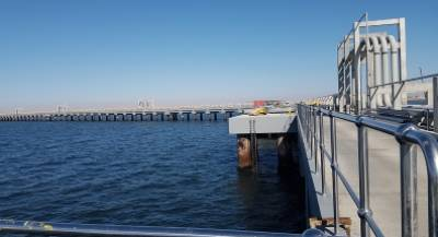 Oil Jetty in walvisbay, All cement supplied by Ohorongo Cement.