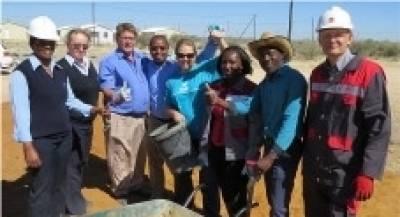 Representatives of Ohorongo Cement - Pupkewitz Foundation and FNB Foundation