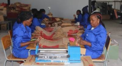 Some of the employees employed at KAPTAU that currently produces cement bags for Ohorongo.