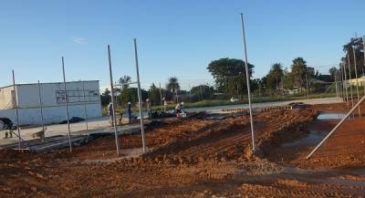 Ohorongo Cement constructs sport facilities for Otavi community.