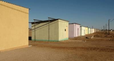 The houses which were built through the Shack Dwellers Federation of Namibia at Matiental