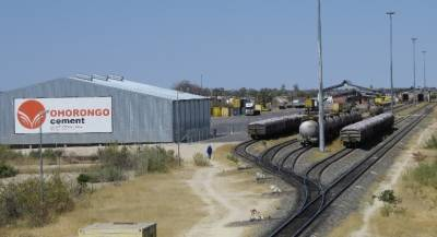 The newly opened Ohorongo Cement depot next to the TransNamib railway station at Ondangwa.