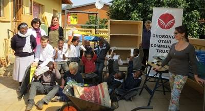 The pupils and staff of TrainOccasions in Otjiwarongo happily received the equipment.