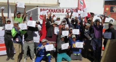 Brickmaking skills a chance to share in the country's prosperity