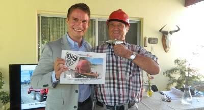 """Tobias Konzmann from EFF and Mr. Wilhelm """"Eule"""" Diemer"""