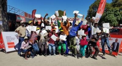 Twenty seven unemployed ones were elated to receive the brickmaking training